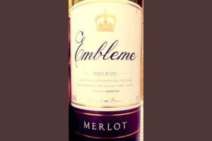 Отзыв о вине Embleme Merlot Pays d'Oc 2017