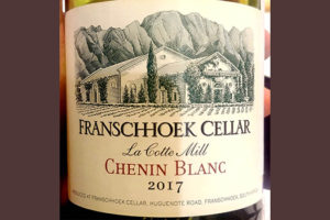 Отзыв об игристом вине Franschhoek Cellar La Cotte Mill Chenin Blanc 2017