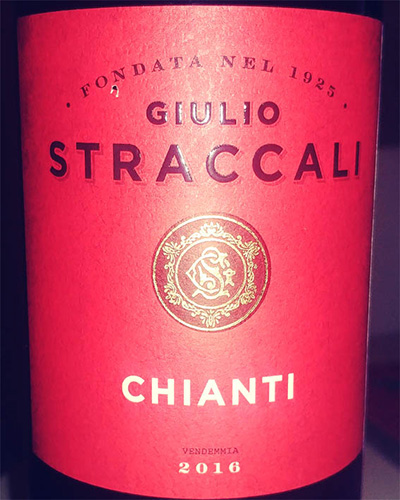 Отзыв о вине Giulio Straccali Chianti 2016