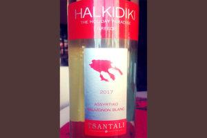 Отзыв о вине Halkidiki The Holiday Paradise Assyrtiko Sauvignon Blanc 2017