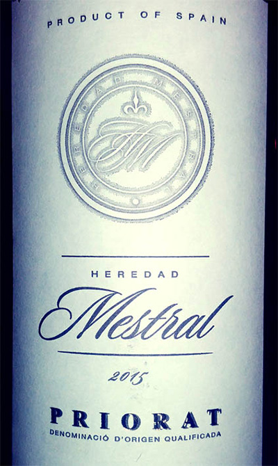 Отзыв о вине Heredad Mestral Priorat 2015