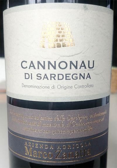 Отзыв о вине Marco Zanatta Cannonau di Sardegna 2016