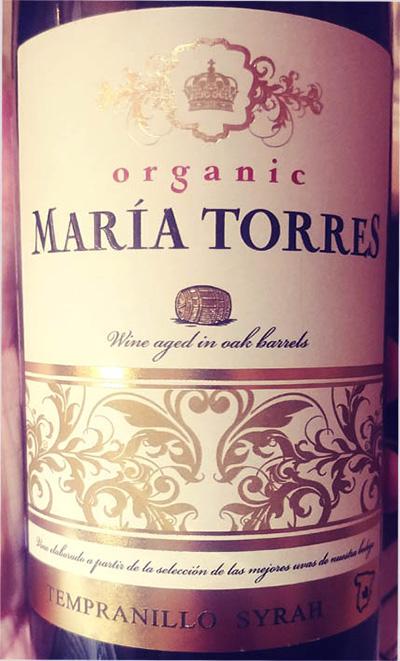 Отзыв о вине Maria Torres organic Tempranillo Syrah 2016