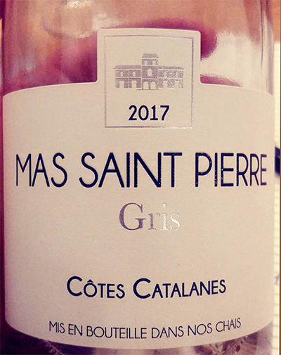 Отзыв о вине Mas Saint Pierre Gris Cotes Catalanes rose 2017