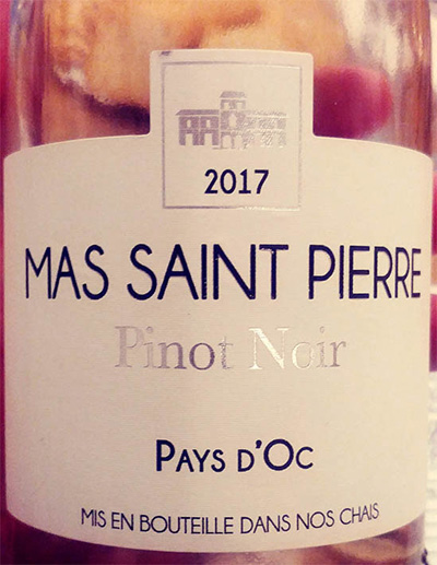 Отзыв о вине Mas Saint Pierre Pinot Noir Pays d'Oc rose 2017