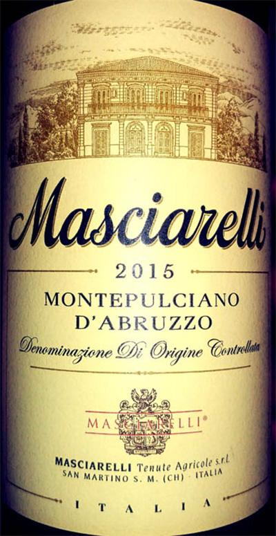 Отзыв о вине Masciarelli Montepulciano d'Abruzzo 2015