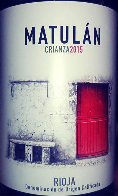 Отзыв о вине Matulan crianza 2015