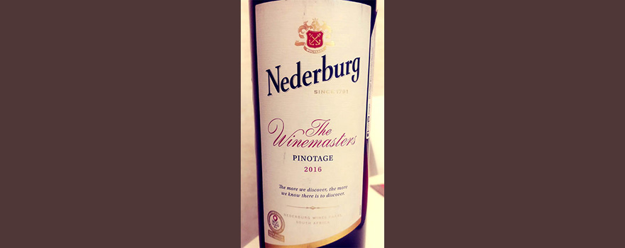 Отзыв о вине Nederburg The Winemasters Pinotage 2016
