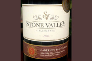 Отзыв о вине Stone Valley Califirnia Cabernet Sauvignon 2016