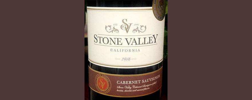 Отзыв о вине Stone Valley Califirnia Cabernet Sauvignon 2016