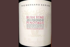 Отзыв о вине The Bernard Series Bush Vine Pinotage Bellingham 2016