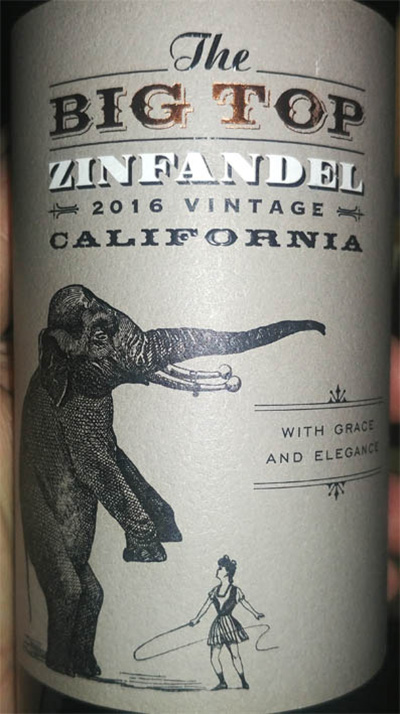 Отзыв о вине The Big Top Zinfandel vintage 2016