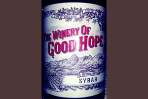 Отзыв о вине The Winery of Good Hope Syrah 2013