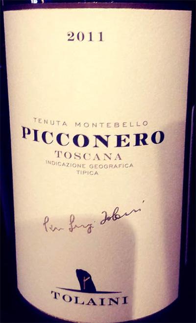 Отзыв о вине Tolaini Picconero Toscana 2011