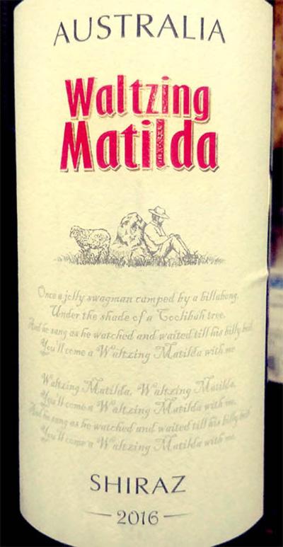 Отзыв о вине Waltsung Matilda Shiraz 2016