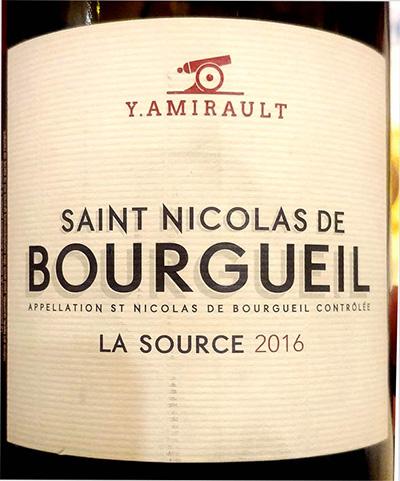 Отзыв о вине Y.Amirault Saint Nicolas de Bourgueil 2016