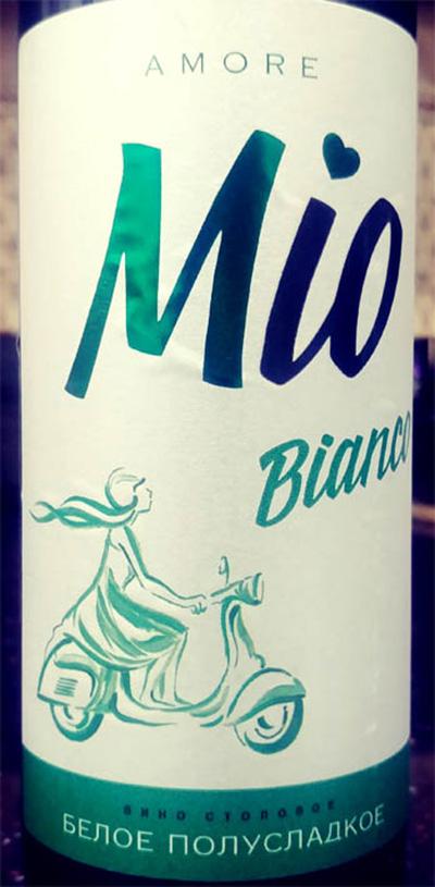 Отзыв о вине Amore Mio bianco белое столовое полусладкое 2016