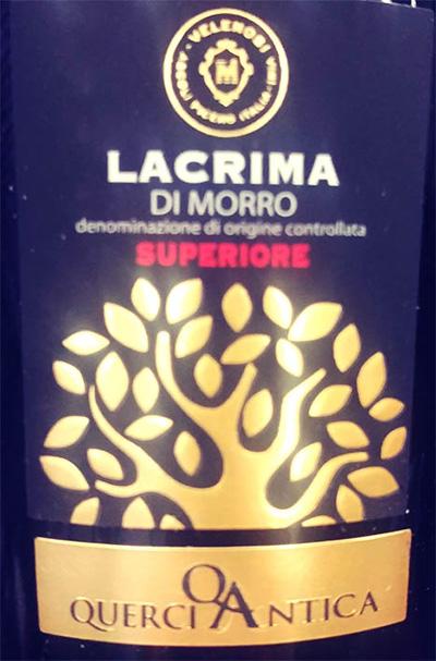Отзыв о вине Ascoli Piceno Lacrima Di Morro D'Alba superiore 2016