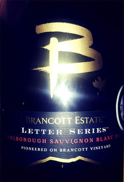 Отзыв о вине Brancotte Estate Letter Series Sauvignon Blanc 2015