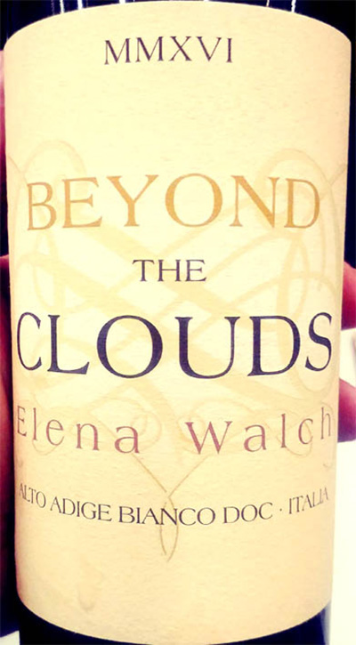 Отзыв о вине Elena Walch Beyond the Clouds 2016