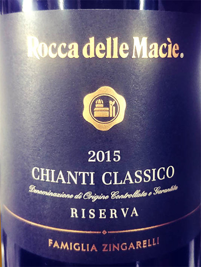 Отзыв о вине Familia Zingarelli Rocca del Macie Chianti Classico riserva 2015