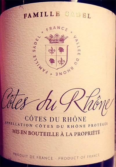 Отзыв о вине Famille Sadel Cotes du Rhone 2014