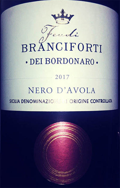 Отзыв о вине Fendi Branciforti Dei Bordonaro Nero d'Avola 2017