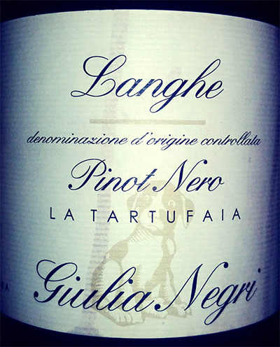 Отзыв о вине Giulia Negri Pinot Noir La Tartufaia Langhe 2013