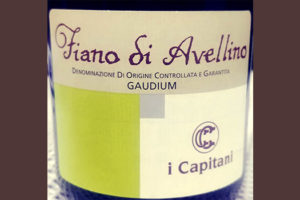 Отзыв о вине I Capitani Fiano di Avellino Gaudium 2016
