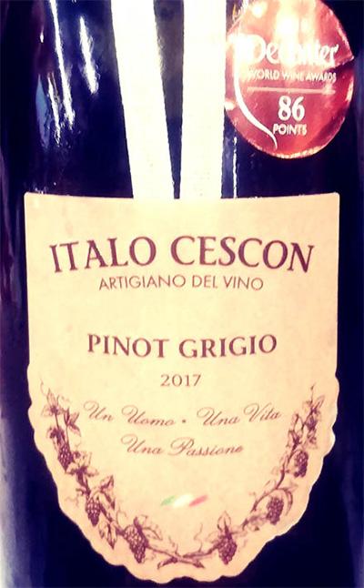Отзыв о вине Italo Cescon Pinot Grigio 2017