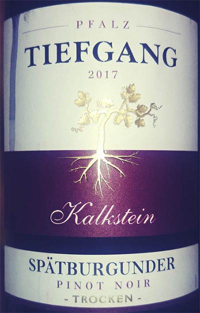 Отзыв о вине Kalkstein Tiefgang Spatburgunder Pinot Noir trocken 2017