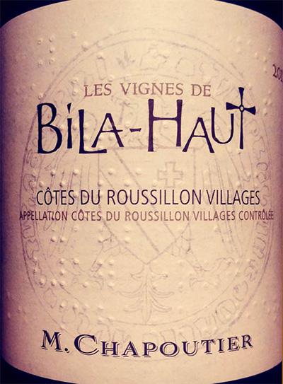 Отзыв о вине M.Chapoutier Les Vignes de Bila-Haut 2017