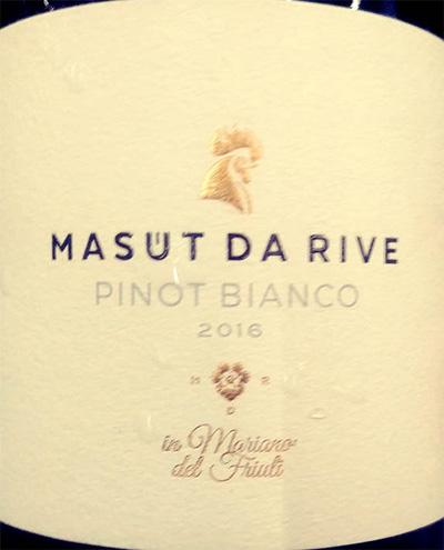 Отзыв о вине Masut da Rive Pinot Bianco 2016
