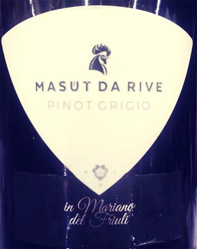 Отзыв о вине Masut da Rive Pinot Grigio 2017