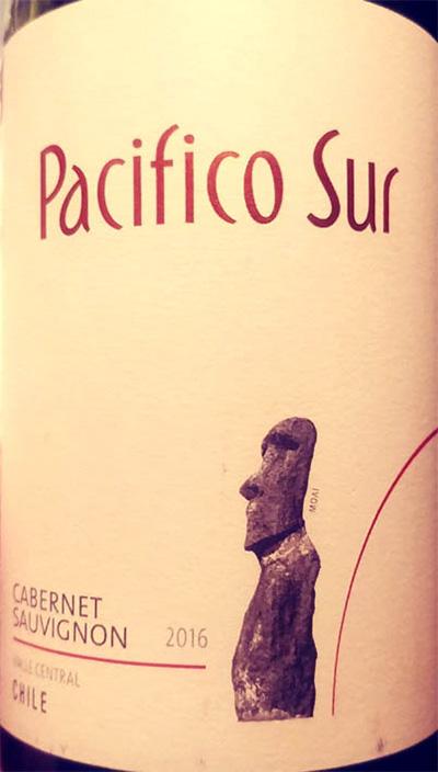 Отзыв о вине Pacifico Sur Cabernet Sauvignon 2016