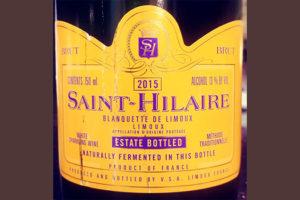 Отзыв об игристом вине Saint-Hilaire Blanquette de Limoux estate bottled 2015