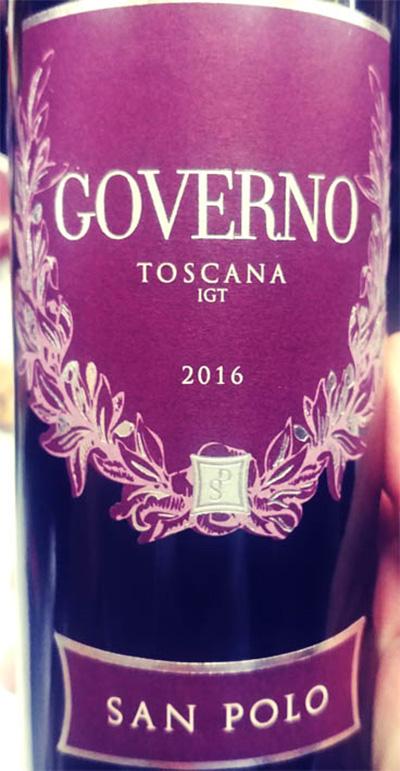 Отзыв о вине San Polo Governo Toscana 2016