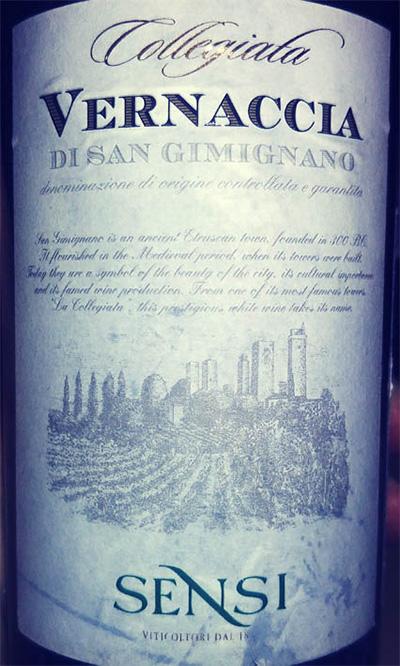 Отзыв о вине Sensi Collegiata Vernaccia di San Gimignano 2016