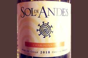 Отзыв о вине Sol de Andes Chardonnay Central Valley 2018