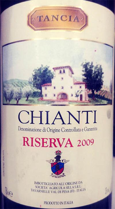 Отзыв о вине Tancia Chianti reserva 2009