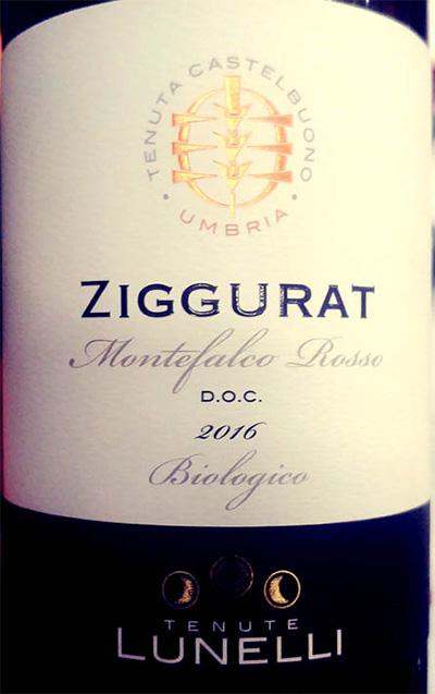 Отзыв о вине Tenute Lunelli Ziggurat Montefalco rosso 2016