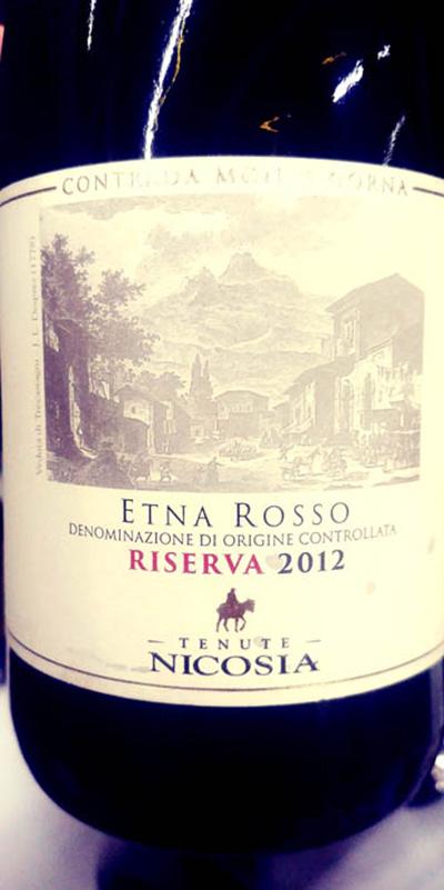 Отзыв о вине Tenute Nicosia Cantrada Monte Gorna Etna Rosso riserva 2012
