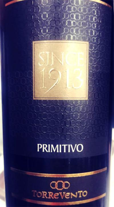 Отзыв о вине Torre Vento Primitivo Since 1913 2016