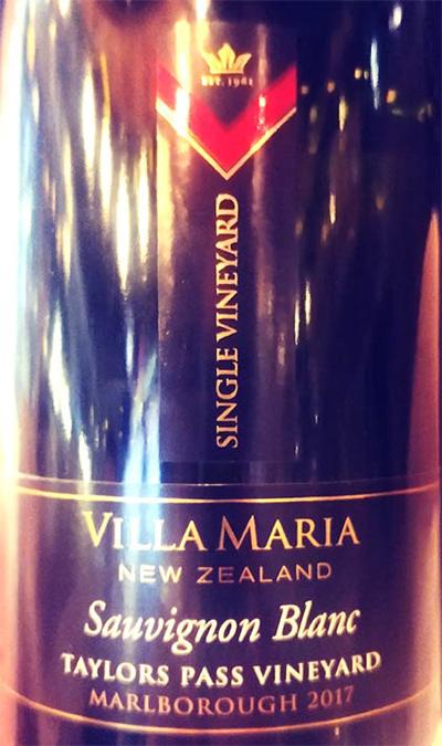 Отзыв о вине Villa Maria Sauvignon Blanc Taylors Pass Vineyard 2017