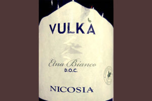 Отзыв о вине Vulka Etna Bianco Nicosia 2016