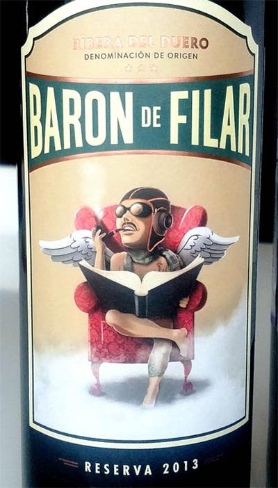 Отзыв о вине Baron de Filar reserva Ribera del Duero 2013