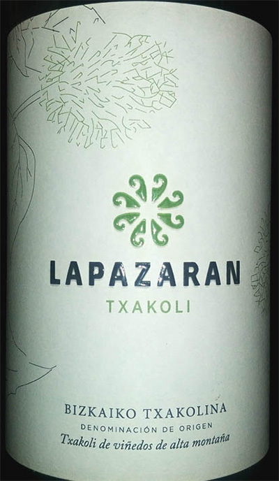 Отзыв о вине Bizkaiko Txakolina Lapazaran Txakoli 2017