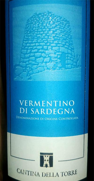 Отзыв о вине Cantina Della Torre Vermentino di Sardegna 2016