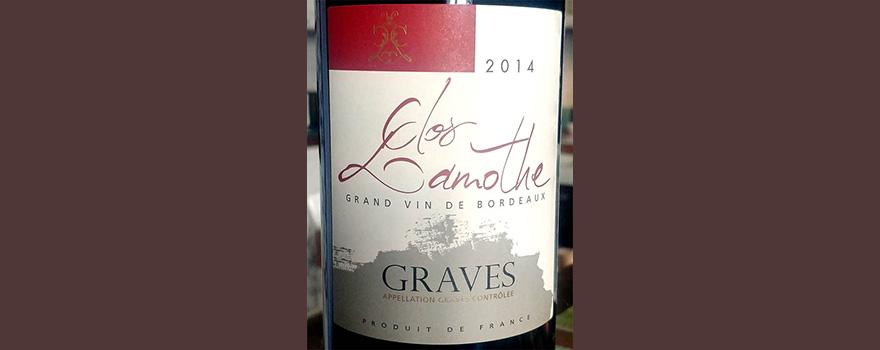 Отзыв о вине Clos Lamothe Graves rouge grand vin de Bordeaux 2014