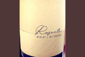 Отзыв о вине Colle Adimari Rasente Merlot IGT Toscana 2015